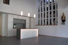 Gemeindezentrum Foyer: Zusammenarbeit mit Architekten zweimeterzehn, Bremen