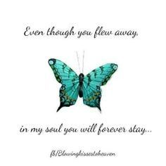 Even though you flew away,in my soul you will forever stay..... (I Will Try God)