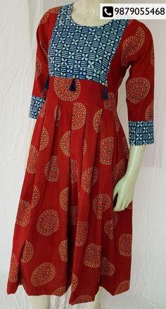 Festive Collection Exhibition by Aangan of Kutch tomorrow Neck Designs For Suits, Dress Neck Designs, Designs For Dresses, Simple Kurti Designs, Kurta Designs Women, Anarkali Kurti, Churidar, Punjabi Dress Design, Kurtha Designs