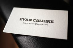Business cards letterpress printing
