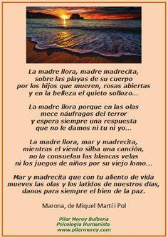 Marona (Madrecita), poema de Miquel Martí i Pol, y que Lluís Llach usó en su canción del mismo nombre.