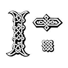 Celta letra I y dingbats - ilustración de arte vectorial