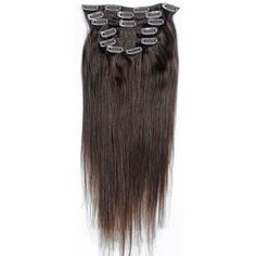 Emosa 22'' 7pcs Remy Clips in On Human Hair Extensions #4 by Emosa. $29.00