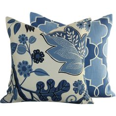 Blooming Sapphires Pillow Covers