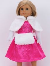 4-Piece Pink Party Outfit Made To Fit American Girl 18 Inch Dolls