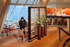 Izumi's tranquil interior. #food #RoyalCaribbean