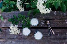 Holunderblüten Panna Cotta, Holunderblütensirup ohne Zitronensäure und meine Tipps, was ihr beim Sammeln von Holunderblüten beachten solltet.