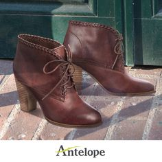 Amazing details! Fall booties by Antelope Shoes: http://www.antelopeshoes.com