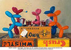 "artwork: Robert C. Jackson - ""Poker Night"" - Oil on linen - 24"" x 36"" - Courtesy of the artist. Robert C. Jackson has been selected as the Evansville Museum's 2012 Martha and Merritt deJong Memorial Artist in Residence. Evansville, Indiana."