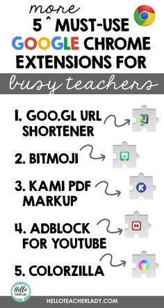 5 Must-Use Chrome Extensions for Busy Teachers Teaching Technology, Educational Technology, Medical Technology, Energy Technology, Technology In Schools, Technology Lessons, Technology Humor, Technology Design, Technology Gadgets