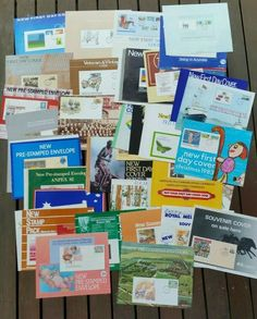 First Day Covers on Australia Post Posters.  1980s.  Large Lot