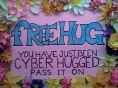 You have been given a cyber hug. Pass it on Happy Hug Day lol ❤ Free Hugs, Faith In Humanity, Make Me Smile, Cyber, Fangirl, Geek Stuff, Love You, Thankful, Inspirational Quotes