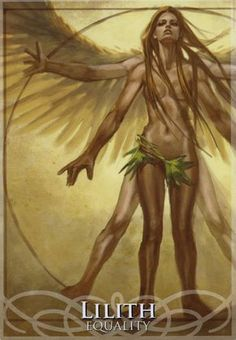 Lilith in Goddesses & Sirens Oracle by Stacey Demarco & Jimmy Manton Celtic Goddess, Goddess Art, Goddess Pagan, Wicca Witchcraft, Magick, Wiccan, Lillith Goddess, Lilith Sigil, Satanic Art