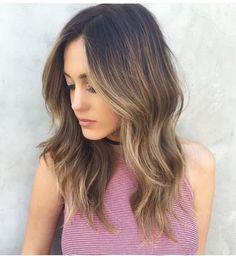 Dark to Light Balayage Ombre Hair Color Ideas for Womens Hair Day, New Hair, Hair Color And Cut, Hair Colour, Darker Hair Color Ideas, Great Hair, Gorgeous Hair, Hair Looks, Hair Lengths