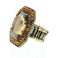 Gold Square Topaz Gemstone available at http://www.divabelle.com $8.00
