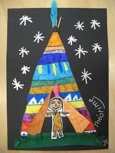 Mama C/November Thanksgiving = Native Americans & Pilgrims Thanksgiving Art, Thanksgiving Preschool, Fall Art Projects, School Art Projects, Native American Crafts, American Indian Art, Kindergarten Art, Preschool Crafts, November Crafts