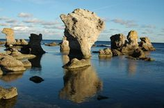 Raukar, on Gotland, Sweden. These are old, large coral formations from when the Baltic was a tropical sea!