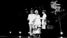 sehun, suho, and baekhyun were posing for the camera and then chanyeol just... (gif) haha