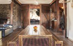 Open door plan. Wide planked floors. Wood-buring fireplace.