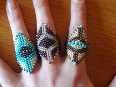 Les perlages de Tatinat: Bagues perles rocailles