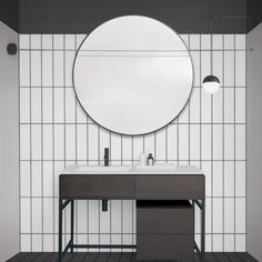 Home Interior Design, Home Furniture, House Design, Mirror, Bathroom, Home Decor, Powder Room, Bathroom Furniture