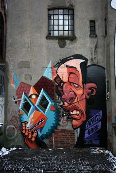 Behind the mask. The Urban Art team Low Bros consists of two brothers, Qbrk and Nerd, born in Hamburg, northern Germany.