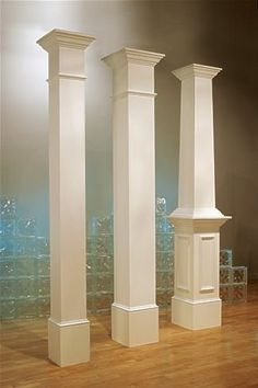 Decorative column on the front porch. Front Porch Columns, House Columns, Facade House, Wooden Columns Porch, Portico Entry, Columns Inside, Front Porch Posts, Wooden Pillars, Wood Columns