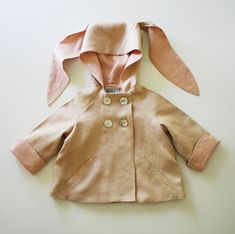 Summer Linen Bunny Coat by littlegoodall on Etsy
