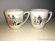 bonitas tazas de café. escenas románticas.