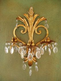 Love this Italian Gold Leaf sconce.