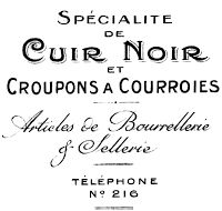 Antique French Typography Invoice Royalty Free Clip Art Graphic from Knick of Time