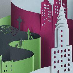 paper art - New York by Eiko Ojala5