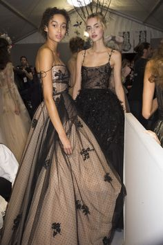 Backstage at Christian Dior Spring/Summer 2017 Couture, Paris Fashion Week.