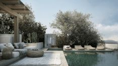 Combining Aegean aesthetic with Scandinavian minimalism, this Mykonos home by makes for the perfect summer hideaway. Mykonos, Swimming Pool Photos, Swimming Pools, Outdoor Spaces, Outdoor Living, Outdoor Decor, Moderne Pools, Pool Designs, Cabana