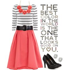"""Best color in the world...."" by jamie-burditt on Polyvore...minus the belt"
