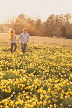 Outdoor Spring Engagement Shoot on a Tennessee Farm by IBW Photography   Done Brilliantly