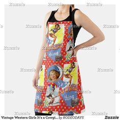 Western Kitchen Decor, Western Girl, Summer Bbq, Vintage Shops, Westerns, Apron, Cool Designs, Shopping, Tops