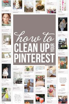 This is very helpful.  How to clean up your Pinterest boards-  #cleanupyourpinterest