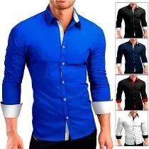 d382152cf44cf Camisa Social Masculina Slim Fit Manga Longa Luxo Liquidação