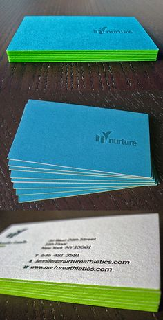 Neon Edge Painted Business Cards | Business Cards | The Design Inspiration