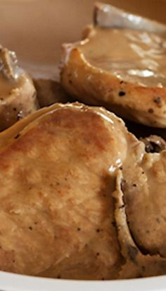 Easy Pork Chops in Mushroom Gravy (Pressure Cooker Recipe)