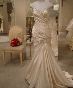 Pinina Tornai. Obviously I was watching SYTTD. Satin. Sweetheart neckline. Embellished. Perfect dress