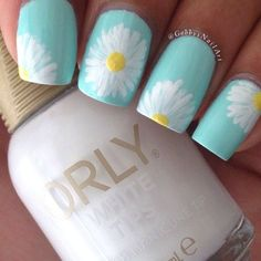 40 Elegant and Amazing Green Nail Art Designs That Will Inspire You - Nails Design Cute Summer Nail Designs, Cute Summer Nails, Cute Nails, Flower Designs For Nails, Pedicure Designs, Acrylic Nails For Summer Bright, Nail Designs For Kids, Light Blue Nail Designs, Easy Nail Designs