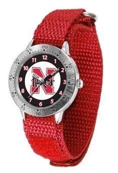Nebraska Cornhuskers Youth Watch Velcro Strap Watch by SunTime. $29.95. Adjustable Band. Stainless Steel Back. Officially Licensed Nebraska Cornhuskers Youth Watch. Kids & Toddlers. Velcro Strap. Nebraska Cornhuskers Youth Watch Velcro Strap Watch. The metal alloy case is light weight with a stainless steel back and a sporty adjustable Velcro strap for the perfect, comfort youth fit. The Cornhuskers large team logo creates an eye popping prideful statement. The kid friendly eas...
