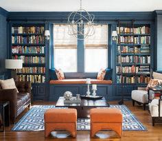Cozy Home Library Interior Idea (20)