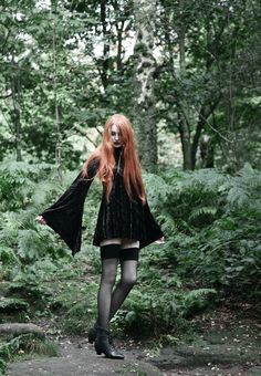 Excited to share this item from my shop: Gothic Witch Dress Hooded Velvet Flare Sleeves Wiccan Metal Dark Alternative Fashion Sizes XXS XS S M L XL Witch Fashion, Dark Fashion, Gothic Fashion, Alternative Outfits, Alternative Fashion, Style Indie, Style Grunge, Dark Beauty, Gothic Beauty