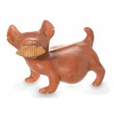Bloomsbury Market Jeni Colima Dog with Corn Ceramic Figurine Dog Sculpture, Animal Sculptures, Mexican Ceramics, Art Premier, Mesoamerican, Inca, Ceramic Figures, Historical Art, Ancient Artifacts