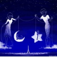We use these personas of ours as a simulacrum of Paris' protectors. We watch over our city, from above. Always together, just as the moon and the stars.