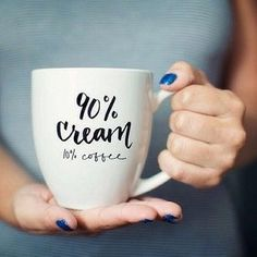 My kind of cup! 90 Cream // Calligraphy Coffee Mug by AllieRuth on Etsy