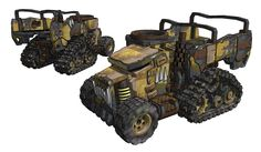 love the heavier cab armour and half track design of this trukk